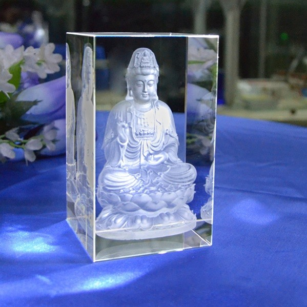 3D Crystal Laser  Guanyin DY-ND8009