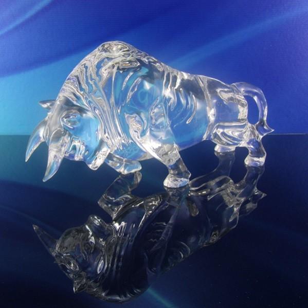Sculptures Crystal Rising Bull DY-DK8004